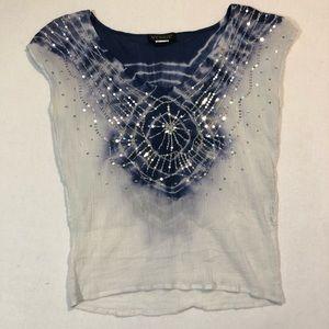 Venus shirt xsmall sequins tie-dye bohemian